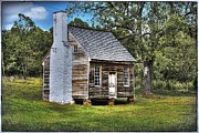 Cabin Window Digital Art Framed Prints - The Sweeney Place - color Framed Print by Dan Stone