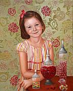 Oil Painting - The Sweet Sneak by Enzie Shahmiri