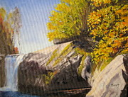 Swimming Hole Paintings - The Swimming Hole by Shirley Braithwaite Hunt