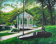 Swing Paintings - The Swing by Parker Jim