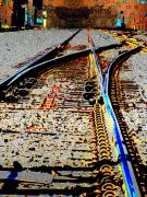 Rail Digital Art - The Switch by Tim Allen