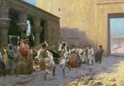 Hieroglyphics Paintings - The Sword Dance by Jean Leon Gerome