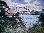 Enver Larney Art - The Sydney Opera House and Harbour Bridge. Australia 2007  by Enver Larney