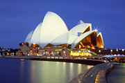 Joannes Framed Prints - The Sydney Opera House Framed Print by Thomas Joannes