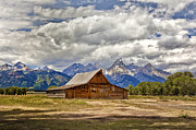 Ranch Photographs Framed Prints - The T. A. Moulton Barn in Grand Teton National Park Framed Print by Matt Suess