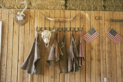 The Tack Room At Saddleback Ranch Print by Taylor S. Kennedy