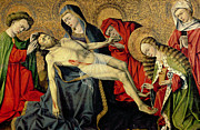 Gold Leaf Paintings - The Tarascon Pieta by French School