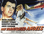 Rock Angels Prints - The Tarnished Angels, From Left Rock Print by Everett