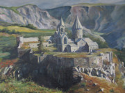 Road Paintings - The Tatev Monastery by Tigran Ghulyan