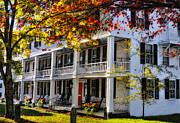 Vermont Fall Foliage Framed Prints - The Tavern at Grafton - Grafton Vermont Framed Print by Thomas Schoeller