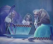 Tea Party Paintings - The Tea Party by Leonard Filgate