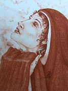 Catholic Pastels Prints - The Tear of Madonna Print by Patsy Fumetti  - SouthWest Design Studio