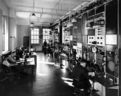 1930s Candid Photos - The Telephone Companys General Control by Everett
