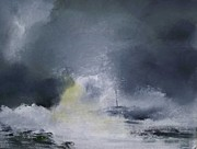 Stormy Weather Paintings - The Tempest by Andy Davis