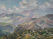 Impressionistic Landscape Paintings - The temple of Haghpat by Tigran Ghulyan