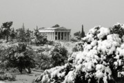 Akropolis Posters - The temple of Hephaestus Poster by Manolis Tsantakis