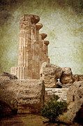 Unesco Framed Prints - The temple of Heracles Framed Print by RicardMN Photography