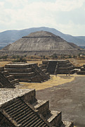 Artifacts Posters - The Temple Of The Sun At Teotihuacan Poster by Martin Gray