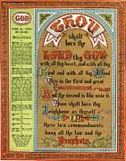 The Ten Commandments Print by Pg Reproductions