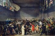 Tennis Court Framed Prints - The Tennis Court Oath Framed Print by Jacques Louis David