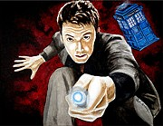 Science Paintings - The Tenth Doctor by Al  Molina