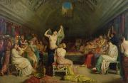 Lesbian Painting Prints - The Tepidarium Print by Theodore Chasseriau