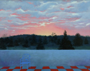 Bethany Windham Engle Art - The Terrace At Daybreak by Bethany Windham Engle