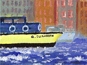 Queen Elizabeth Paintings - The Thames of London by Rick Carbonell