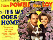 Lobbycard Photo Framed Prints - The Thin Man Goes Home, William Powell Framed Print by Everett