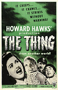 The Thing Posters - The Thing From Another World, From Left Poster by Everett