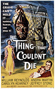 1950s Poster Art Framed Prints - The Thing That Couldnt Die, 1958 Framed Print by Everett