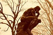 Rodin Prints - The Thinker Print by Bill Cannon