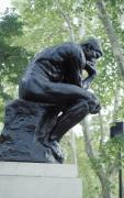 Pondering Prints - The Thinker by Rodin Print by Carl Purcell