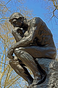 Benjamin Franklin Parkway Photos - The Thinker by Rodin by Lisa  Phillips