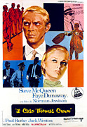 Dunaway Prints - The Thomas Crown Affair, Italian Poster Print by Everett