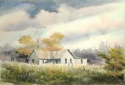 Farm House Paintings - The Thompson Place by Sam Sidders