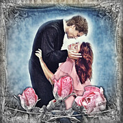 Lovers Digital Art - The Thorn Birds by Mo T