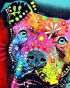 Pitbull Art - The Thoughtful Pit by Dean Russo