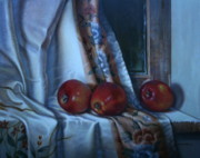 William Albanese Sr Prints - The Three Apples Print by William Albanese Sr