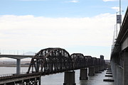 Bay Bridge Art - The Three Benicia-Martinez Bridges - 5D18625 by Wingsdomain Art and Photography