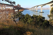 Bay Bridge Art - The Three Benicia-Martinez Bridges Across The Carquinez Strait in California . 7D10436 by Wingsdomain Art and Photography