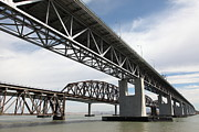 Carquinez Strait Metal Prints - The Three Benicia-Martinez Bridges in California - 5D18663 Metal Print by Wingsdomain Art and Photography