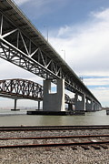 Carquinez Strait Metal Prints - The Three Benicia-Martinez Bridges in California - 5D18665 Metal Print by Wingsdomain Art and Photography