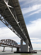 Carquinez Strait Metal Prints - The Three Benicia-Martinez Bridges in California - 5D18670 Metal Print by Wingsdomain Art and Photography