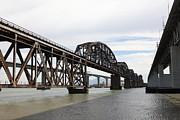 Bay Bridge Art - The Three Benicia-Martinez Bridges in California - 5D18678 by Wingsdomain Art and Photography