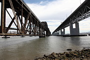 Bay Bridge Art - The Three Benicia-Martinez Bridges in California - 5D18685 by Wingsdomain Art and Photography