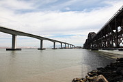 Carquinez Strait Metal Prints - The Three Benicia-Martinez Bridges in California - 5D18714 Metal Print by Wingsdomain Art and Photography