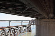 Carquinez Strait Metal Prints - The Three Benicia-Martinez Bridges in California - 5D18844 Metal Print by Wingsdomain Art and Photography