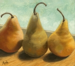 Fruit Art Art - The Three Graces - painting by Linda Apple