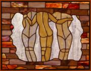 Girls Glass Art - The Three Graces by Howard Mendelson